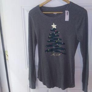 NWT Old Navy Christmas Tree Pajama Thermal Shirt